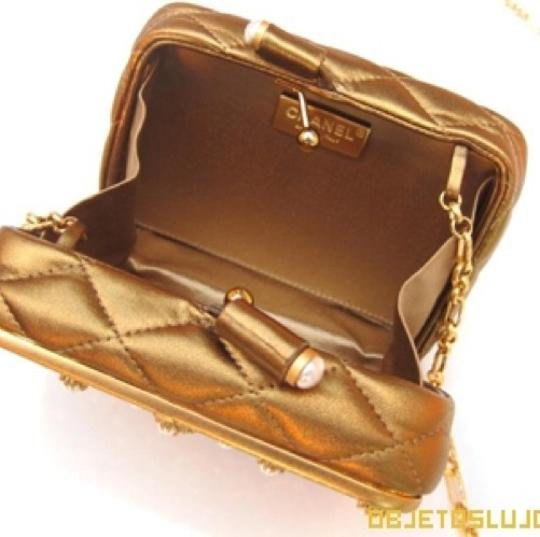 Chanel Vintage Metallic Bronze Clutch