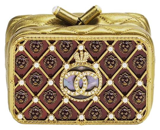 Preload https://item5.tradesy.com/images/chanel-clutch-rare-collectors-moscow-lion-head-aristocracy-british-metallic-bronze-quilted-lambskin--22803494-0-3.jpg?width=440&height=440