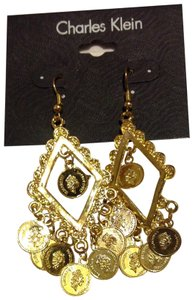 Charles Klein coin chandelier earrings