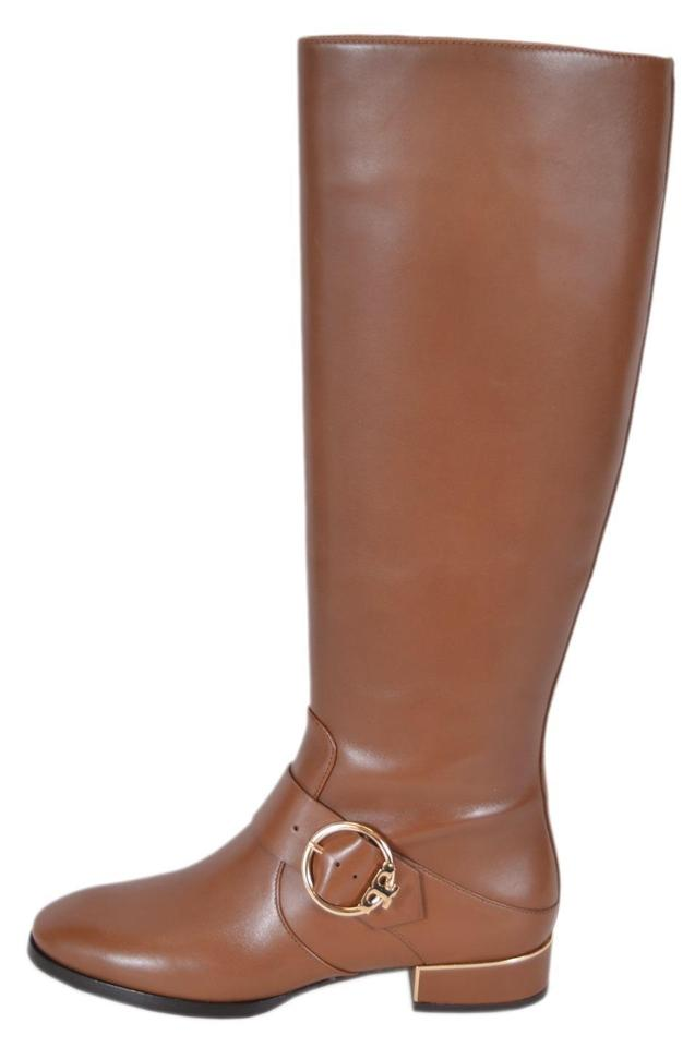 c186e5df18bc Tory Burch Festival Brown T New Women s Leather Sofia Knee High Logo Boots  Booties