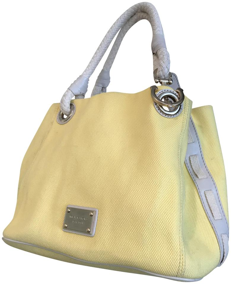 6abada7ef2dab9 Michael Kors Nautical Beach Summer Sailor Tote in Lemon Light Yellow Image  0 ...