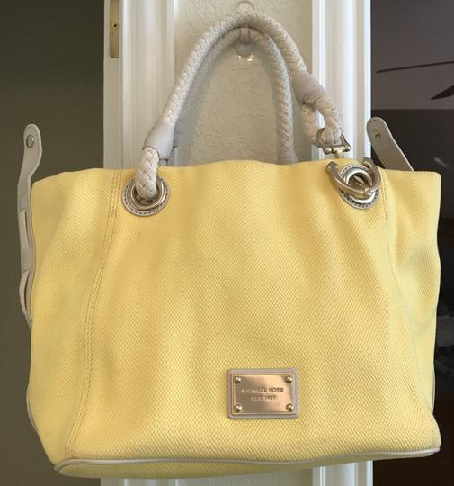 Michael Kors Nautical Beach Summer Sailor Tote in Lemon Light Yellow