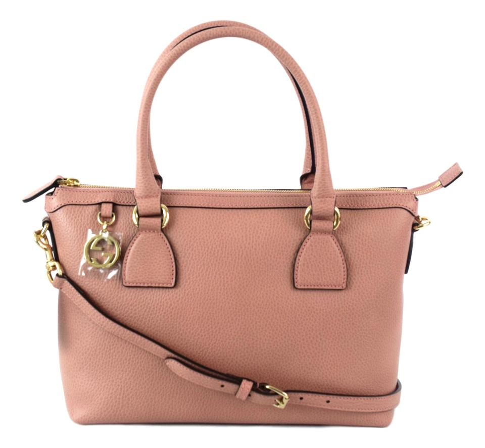 64cc70bf6ba1 Gucci Charmy Zip Top Tote With Strap Leather Cross Body Bag 449659 ...