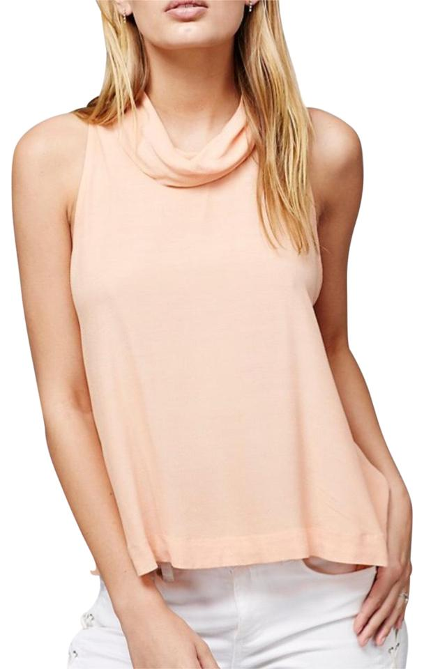 43502599a5669 Free People Peach Cowl Tank Top Cami Size 12 (L) - Tradesy