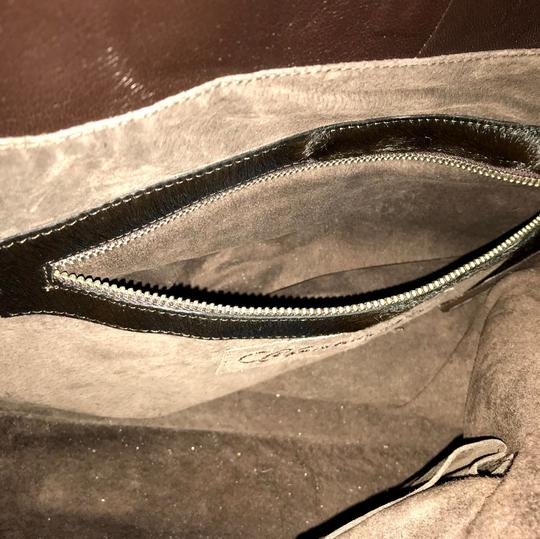 Christiansen Calfhair Woven Leather Tote in brown