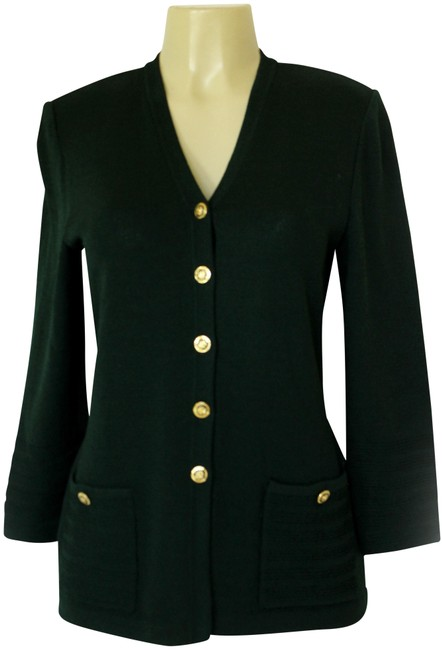 Preload https://item1.tradesy.com/images/st-john-green-collection-santana-knit-forest-button-down-jacket-gold-cardigan-size-4-s-22803820-0-1.jpg?width=400&height=650