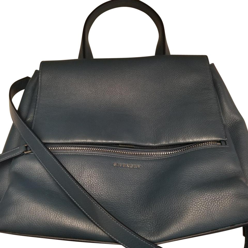 90229b0254 Givenchy Pandora Pure Medium Slate Blue Leather Satchel - Tradesy