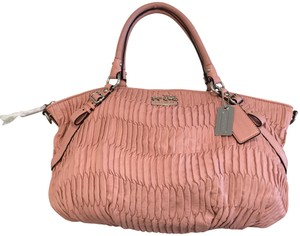 Coach Pleated Shoulder Limited Edition 15942 Italian Satchel in Pink