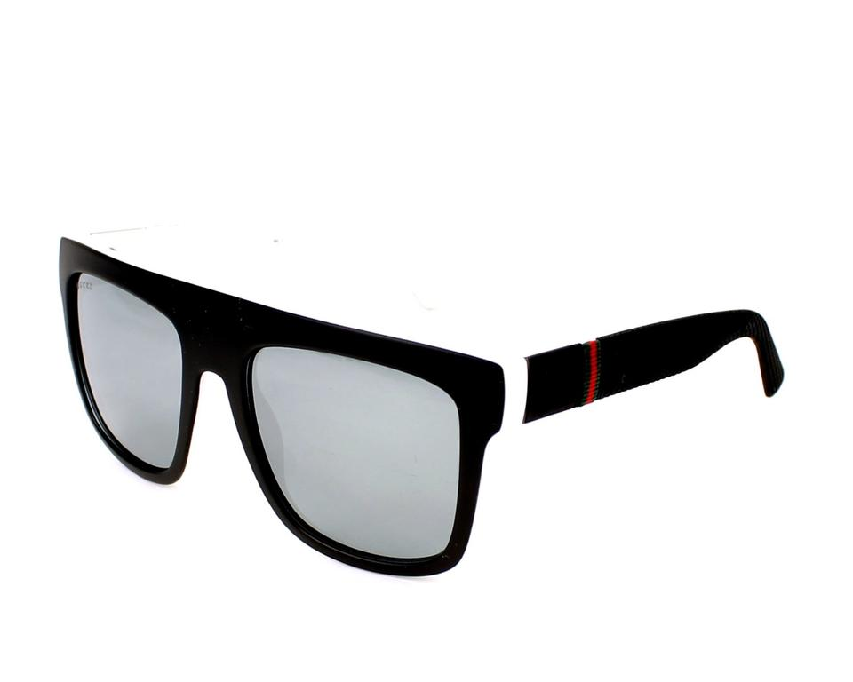 85852630d5179 Gucci NEW Gucci Sunglasses GG 1116 S Oversized Mirrored Flat Top Black  Image 0 ...