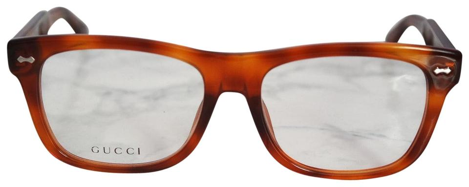 ce430e9c4a Gucci NEW Gucci GG 1141 S Oversized Light Brown Square Eyeglasses Frame  Image 0 ...