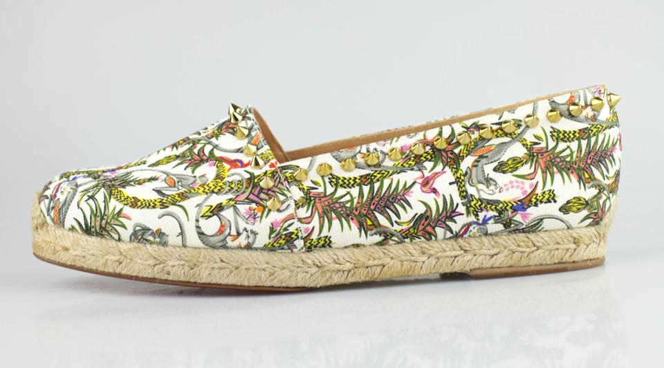 0f6ace7f15d Christian Louboutin Multi-color Ares Jungle Print Spiked Canvas Espadrille  Flats Size EU 40 (Approx. US 10) Regular (M, B) 31% off retail