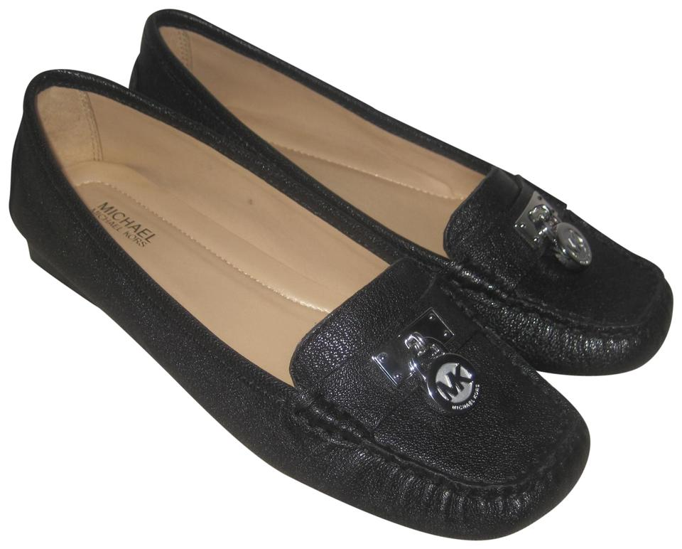 dfb30848c58 Michael Kors Black Hamilton Leather Loafers Moccasins Driving Flats. Size   US 6 Regular ...