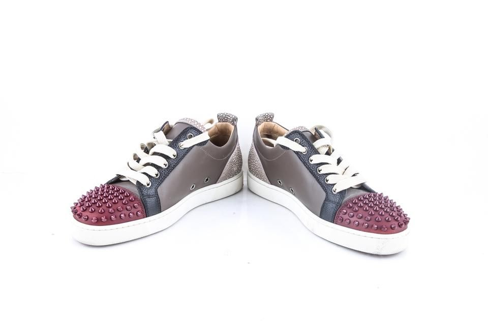 f54a5f112d78 Christian Louboutin Multicolor Louis Junior Spikes Flat Mastic Boots ...