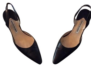 Manolo Blahnik Vintage Leather Black Pumps