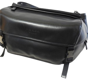 d946a8aefb47 Prada Style Va0091 Black Calfskin Leather Messenger Bag - Tradesy