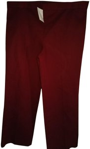 The Row Straight Pants Oxe blood
