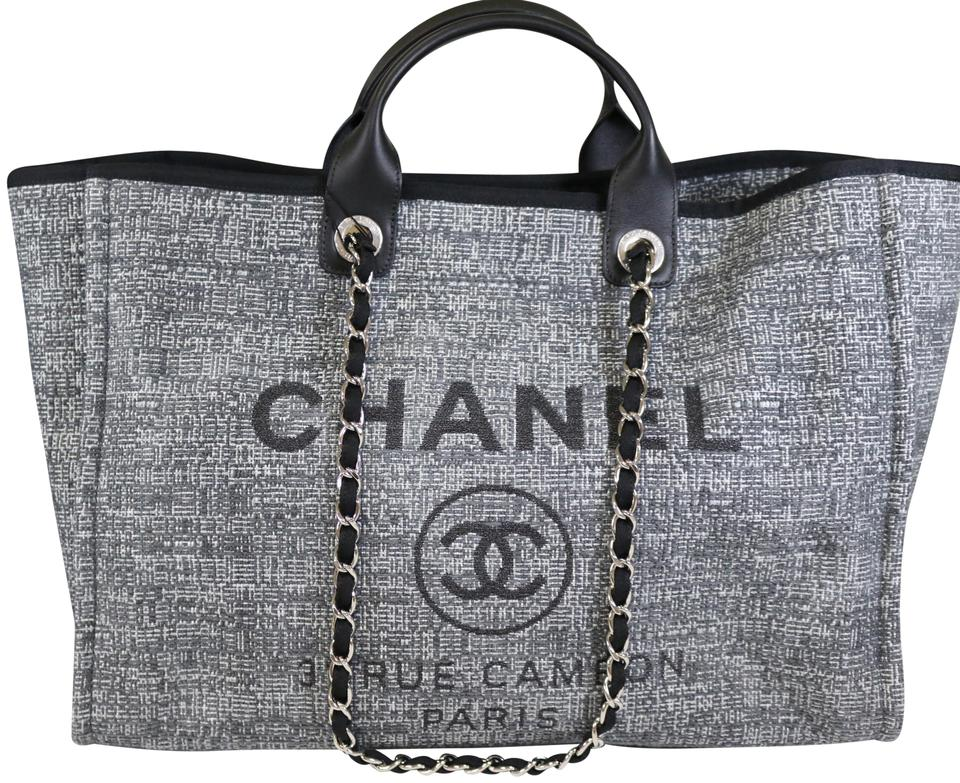934e4c87daf5 Chanel Deauville 2018 Medium Charcoal Tweed Shoulder Bag - Tradesy Chanel  2018 Deauville Rue Cambon ...