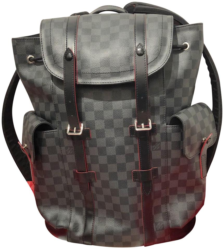 Louis Vuitton Damier Graphite Black Amp Red Backpack Tradesy