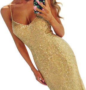 Sherri Hill Beaded Gown Full Length Sequin Dress