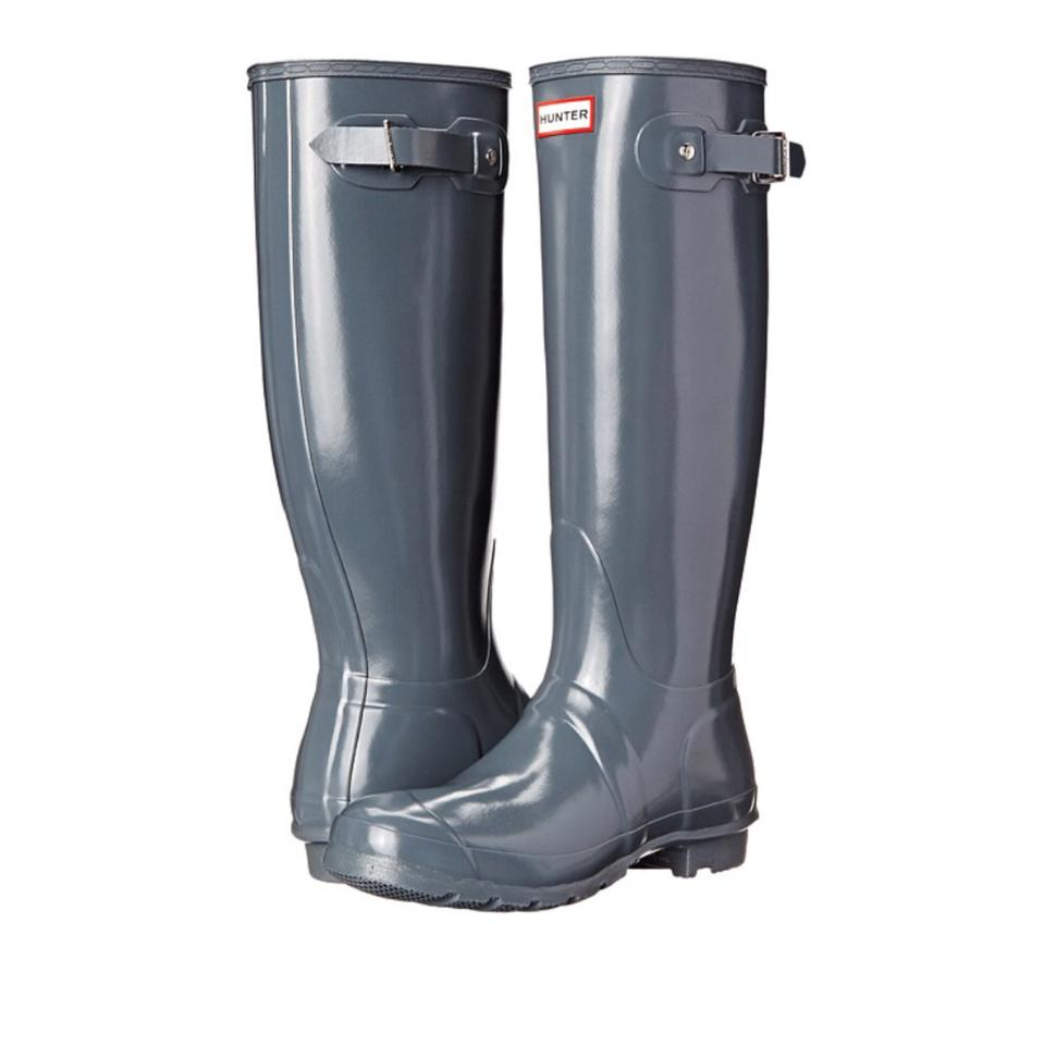 3f10afd0a84e Hunter Graphite Gray Gloss Tall Rain Boots/Booties Size US 10 ...