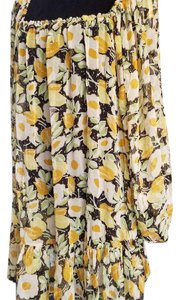 Kate Moss for Topshop short dress yellow and white floral on Tradesy