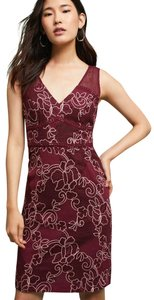 Anthropologie Strapless Lace Pencil Dress