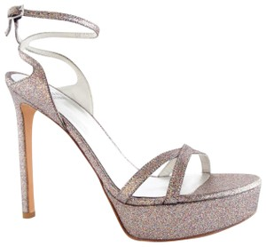 Stuart Weitzman Bebare Wedding Bridal Glitter Sandals
