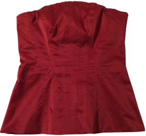The Limited Bustier Corset Style Date Top Red