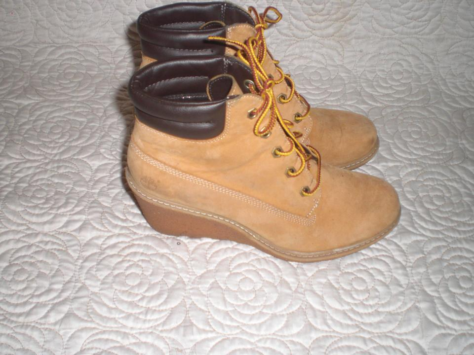 2517bb6a55c Lace Wedges Boot 6 Amston Nubuck Up Earthkeepers Timberland Wheat 8XcOqv