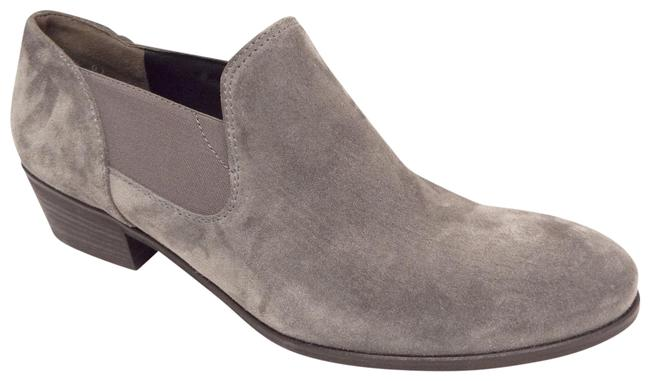 Item - Gray Waxed Suede Leather Slip-on Ankle Boots/Booties Size US 7 Regular (M, B)