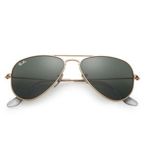 Ray-Ban NEW Small Aviator RB3044 Sunglasses, Gold, 52mm