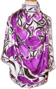 Emilio Pucci NWT AUTHENTIC EMILIO PUCCI MULTICOLOR 34X34' SILK ITALY WOMEN SQUARE S