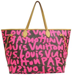 Louis Vuitton Lv Graffiti Neverfull Gm Canvas Shoulder Bag