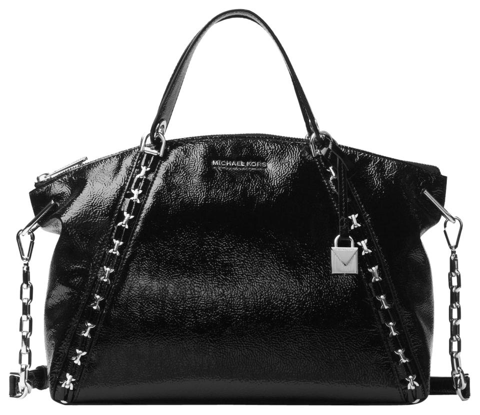73c41a709a87 Michael Kors Mk Leather 30f7saes3a Satchel in Black Image 0 ...