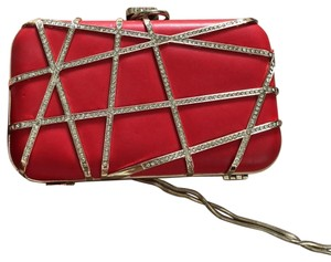 Saks Fifth Avenue red Clutch