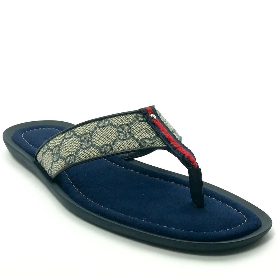 7ccd234428 Gucci Multicolor 202762 Men's Gg Sup. Canvas Web Detail Thong  Sandal12g/Us12.5-13 Sandals Size US 12.5 Regular (M, B) 26% off retail