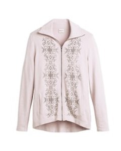 Chico's Embellished Cashmere Soft Orchid Jacket