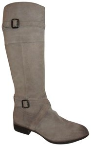Sam Edelman Leather Suede Riding Tall taupe Boots