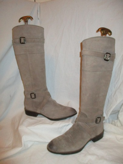 Sam Edelman Leather Suede Riding Tall taupe Boots Image 1