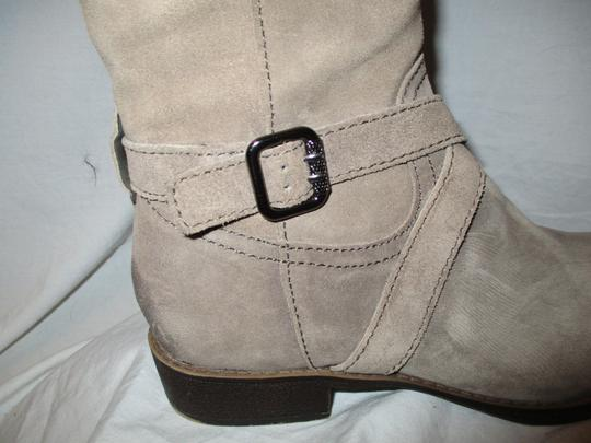 Sam Edelman Leather Suede Riding Tall taupe Boots Image 11