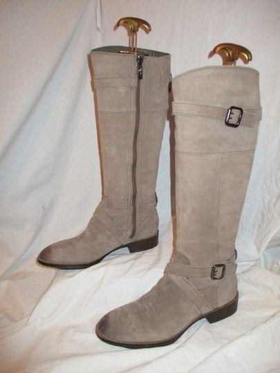 Sam Edelman Leather Suede Riding Tall taupe Boots Image 2