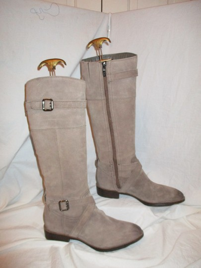 Sam Edelman Leather Suede Riding Tall taupe Boots Image 3