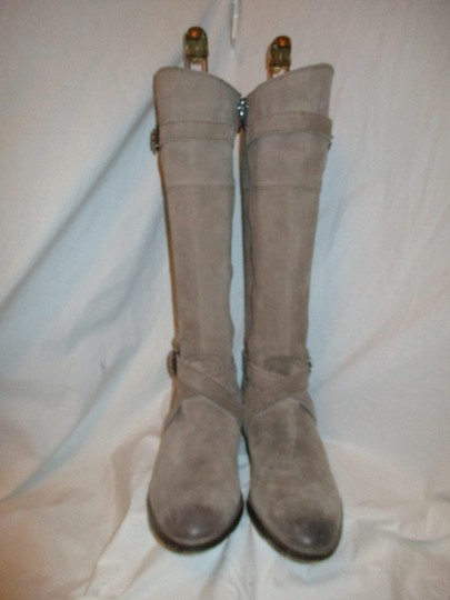 Sam Edelman Leather Suede Riding Tall taupe Boots Image 4