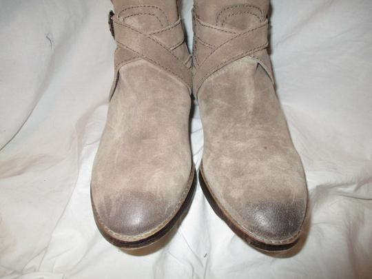 Sam Edelman Leather Suede Riding Tall taupe Boots Image 5