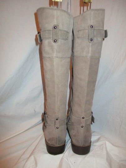 Sam Edelman Leather Suede Riding Tall taupe Boots Image 6
