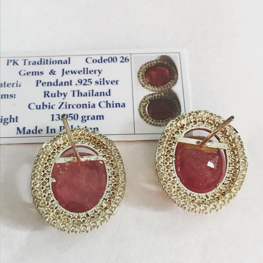 Handmade Ruby And Zirconia Earrings/July Birthstone/Birthday Gift for her/Valentines Day Gift Image 1