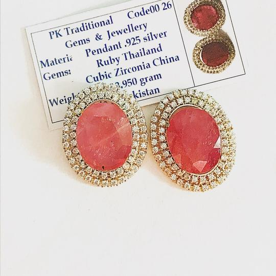 Handmade Ruby And Zirconia Earrings/July Birthstone/Birthday Gift for her/Valentines Day Gift Image 3