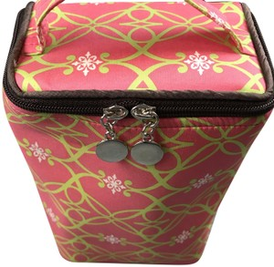 Sub Urban New Without Silk Accessories Rectangular Shape Handle On Top Sub Urban Pink/Green Travel Bag