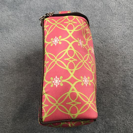 Sub Urban New Without Silk Accessories Rectangular Shape Handle On Top Sub Urban Pink/Green Travel Bag Image 3