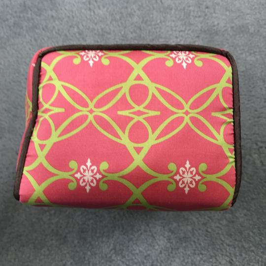 Sub Urban New Without Silk Accessories Rectangular Shape Handle On Top Sub Urban Pink/Green Travel Bag Image 4